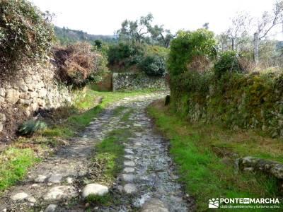 Sierra Gata - Senderismo Cáceres; el monasterio de piedra marcha nordica puente diciembre las hoces